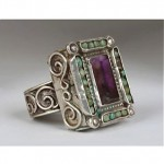 vintage 1940s matl mexican sterling amethyst ring