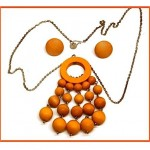 vintage aarikka wood bead necklace