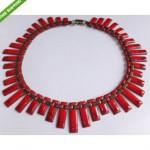 vintage matisse enamel copper necklace