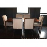 vintage milo baughman table and chairs