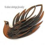 vintage rebajes copper abstract brooch