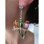 vintage valentino parrot earrings