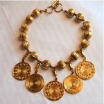 vintage ysl coin charms necklace
