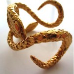 vintage ysl serpent cuff bracelet