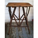 antique adirondack bentwood twig side table