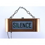 antique theater silence sign
