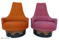 vintage adrian pearsall swivel chairs
