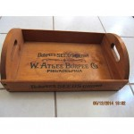 vintage burpees seed wood tray crate garden caddy