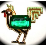 vintage 1920s coro rooster pin