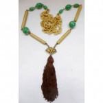 vintage 1920s german bakelite tassel necklace