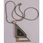 vintage midcentury sterling agate geode necklace