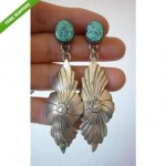vintage navajo sterling tuquoise dangle earrings