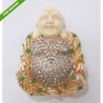 vintage nettie rosenstein buddha brooch