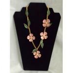 vintage sandor enamel flower necklace