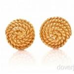 vintage tiffany 18k spiral earrings