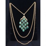 vintage trifari waterfall necklace