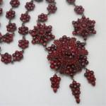 vintage victorian garnet necklace