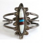 vintage zuni sterling multi-stone bracelet