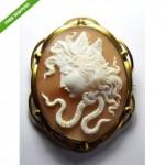 antique 1870s medusa cameo brooch