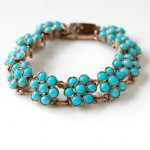 antique edwardian turquoise cluster bracelet