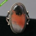 vintag navajo petrified wood ring
