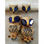 vintage 1940s coro craft duette fur clips and earrings