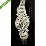 vintage 1950s hamilton diamond flip-top watch