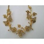 vintage art nouveau seed pearl necklace