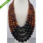 vintage gerda lynggaard monies horn bead necklace