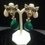 vintage oscar de la renta earrings