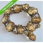 antique victorian sterling citrine bracelet