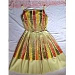 vintage 1950s summer garden dress