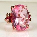 vintage estate retro topaz and ruby ring