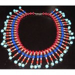 vintage miriam haskell egyptian revival beaded collar necklace