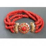 antique coral bracelet