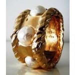 vintage ciner lucite pearl bracelet