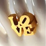 vintage 1970s charles revson robert indiana promotional love ring