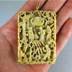 vintage cantonese carved pendant