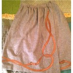 vintage gucci wool and leather wrap skirt