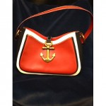 vintage moschino nautical handbag