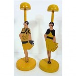 vintage pair hat stands