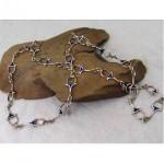 vintage sterling enamel bit link chain