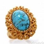 vintage 18k turquoise ring