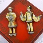 vintage 1930s figural fur clips