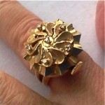 vintage 1960s 14k voltaire ring watch