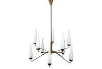 vintage 1960s italian fluted chandelier