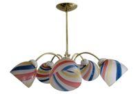 vintage 1960s italian swirl glass chandelier