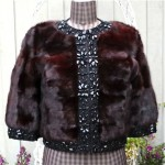 vintage 1988 edwards lowell ranch mink jeweled trim jacket