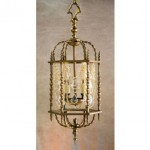 vintage brass french crystal hanging pendant light