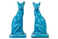 vintage chinese porcelain cat figurines
